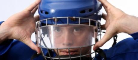 boy wearing helmet