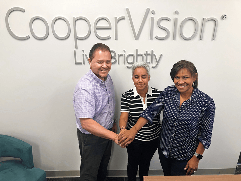 CooperVision employees smiling